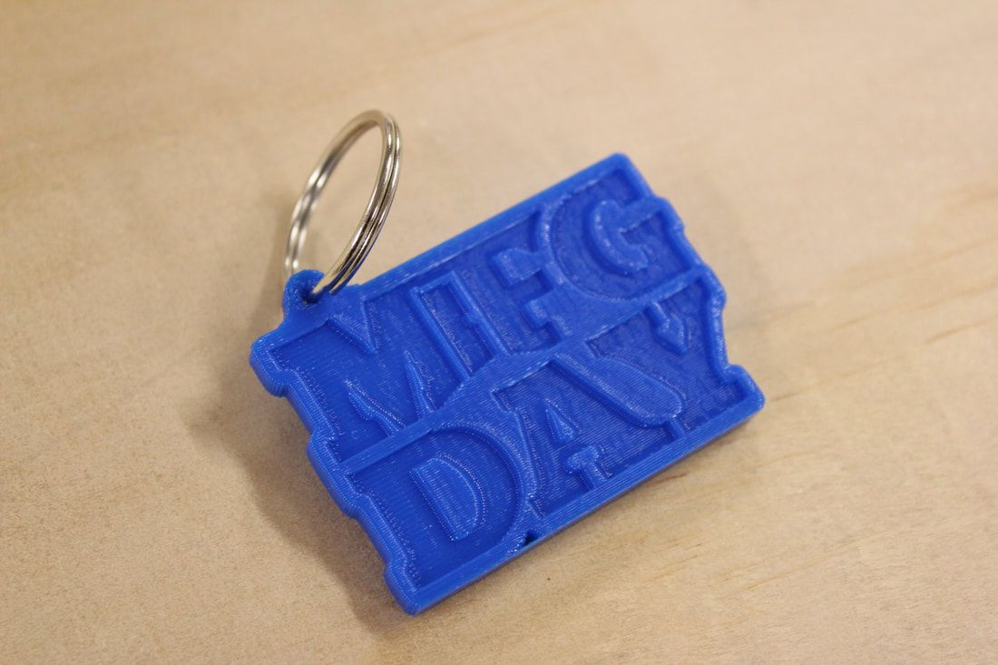 Slant 3d launches 3d printed business cards and keychains slant 3d 3d printed keychain for national manufacturing day reheart Gallery