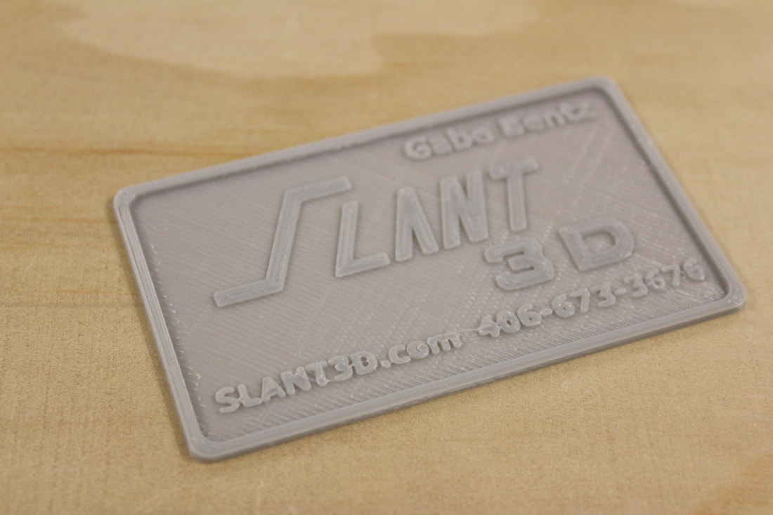Slant 3D Launches 3D Printed Business Cards and Keychains - Slant 3D ...